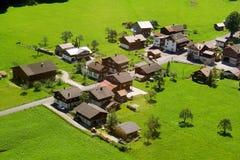 ελβετικό χωριό Στοκ Φωτογραφία