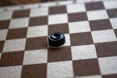 Ελεγκτές checkerboard έτοιμο για το παιχνίδι τρισδιάστατη αφηρημένη απεικόνιση παιχνιδιών έννοιας Επιτραπέζιο παιχνίδι χόμπι ελεγ Στοκ εικόνα με δικαίωμα ελεύθερης χρήσης
