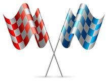 Ελεγμένες σημαίες. Στοκ Φωτογραφία