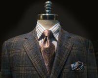 Ελεγμένο σακάκι, ριγωτό πουκάμισο, δεσμός (οριζόντιος) Στοκ Φωτογραφίες