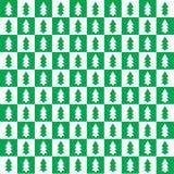 Ελεγμένο σχέδιο με fir-trees Στοκ φωτογραφίες με δικαίωμα ελεύθερης χρήσης