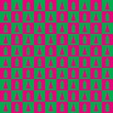 Ελεγμένο σχέδιο με fir-trees Στοκ Εικόνες