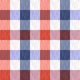Ελεγχμένος, ταρτάν, καρό ή ριγωτό άνευ ραφής σχέδιο στα μπλε, πορτοκαλιά και άσπρα χρώματα επίσης corel σύρετε το διάνυσμα απεικό Στοκ φωτογραφία με δικαίωμα ελεύθερης χρήσης