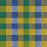 Ελεγχμένος, ταρτάν, καρό ή ριγωτό άνευ ραφής σχέδιο στα πράσινα, κίτρινα και μπλε χρώματα επίσης corel σύρετε το διάνυσμα απεικόν Στοκ φωτογραφίες με δικαίωμα ελεύθερης χρήσης