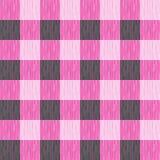 Ελεγχμένος, ταρτάν, καρό ή ριγωτό άνευ ραφής σχέδιο στα ρόδινα και σκούρο γκρι χρώματα Στοκ Φωτογραφίες