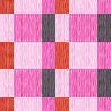 Ελεγχμένος, ταρτάν, καρό ή ριγωτό άνευ ραφής σχέδιο στα ρόδινα, πορτοκαλιά και σκούρο γκρι χρώματα επίσης corel σύρετε το διάνυσμ Στοκ Εικόνα