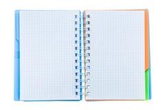 Ελεγχμένος copybook απομονωμένος στο λευκό στοκ εικόνα