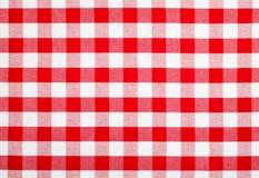 ελεγχμένο κόκκινο τραπεζομάντιλο υφάσματος Στοκ φωτογραφίες με δικαίωμα ελεύθερης χρήσης