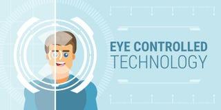 Ελεγχόμενη μάτι τεχνολογία διανυσματική απεικόνιση