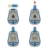 ελεγχόμενος αίμα μετρητής γλυκόζης γιατρών απεικόνιση αποθεμάτων