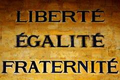 Ελευθερία, ισότητα και αδελφότητα Στοκ φωτογραφία με δικαίωμα ελεύθερης χρήσης