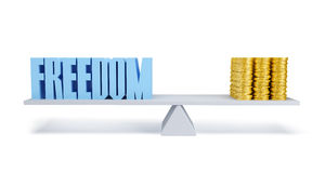 Ελευθερία και χρήματα ελεύθερη απεικόνιση δικαιώματος