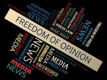 ΕΛΕΥΘΕΡΙΑ της ΓΝΩΜΗΣ - σύννεφο λέξης ελεύθερη απεικόνιση δικαιώματος