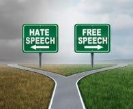 Ελεύθερα ομιλία και μίσος διανυσματική απεικόνιση