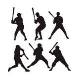 Ελεύθερες διανυσματικές απεικονίσεις παιχτών του μπέιζμπολ διανυσματική απεικόνιση