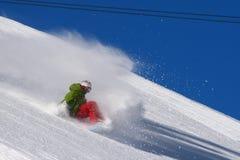 ελεύθερη κολύμβηση snowboarder Στοκ Φωτογραφία