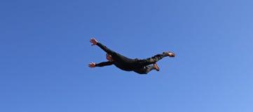ελεύθερη πτώση με αλεξίπτ& Στοκ Φωτογραφίες