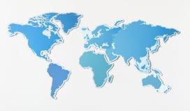 Ελεύθερος κενός χάρτης του κόσμου απεικόνιση αποθεμάτων