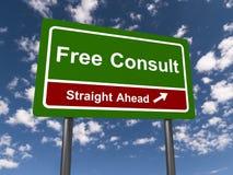 Ελεύθερος συμβουλευθείτε guidepost ελεύθερη απεικόνιση δικαιώματος