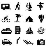 Ελεύθερος χρόνος, αναψυχή και υπαίθρια εικονίδια Στοκ φωτογραφίες με δικαίωμα ελεύθερης χρήσης