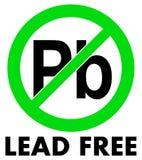 Ελεύθερο εικονίδιο Plumbum μολύβδου Γράμματα PB στον πράσινο διασχισμένο κύκλο διανυσματική απεικόνιση