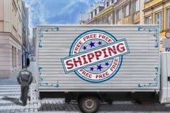 Ελεύθερο στέλνοντας φορτηγό στο κέντρο πόλεων Στοκ Εικόνα