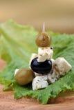 ελιές φέτας τυριών Στοκ εικόνες με δικαίωμα ελεύθερης χρήσης