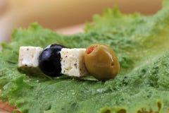 ελιές φέτας τυριών Στοκ Εικόνες