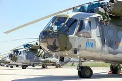 Ελικόπτερα Πολεμικής Αεροπορίας mi-171Sh Zech Στοκ εικόνες με δικαίωμα ελεύθερης χρήσης