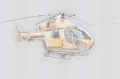 Ελικόπτερο ασθενοφόρων αέρα Helimedix ελεύθερη απεικόνιση δικαιώματος
