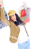 ελκυστικές γυναικείες ψωνίζοντας νεολαίες τσαντών Στοκ Εικόνα