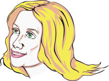 ελκυστικές ξανθές νεολ ελεύθερη απεικόνιση δικαιώματος