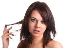ελκυστικές brunette νεολαίεσ στοκ φωτογραφίες