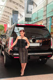 ελκυστική γυναίκα αυτοκινήτων στοκ φωτογραφίες