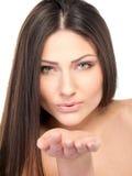 ελκυστική γυναίκα πορτ&rho Στοκ Εικόνες