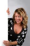 ελκυστική γυναίκα σημα&del Στοκ φωτογραφίες με δικαίωμα ελεύθερης χρήσης