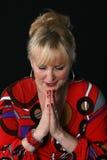 ελκυστική γυναίκα χαιρ&eps Στοκ φωτογραφία με δικαίωμα ελεύθερης χρήσης