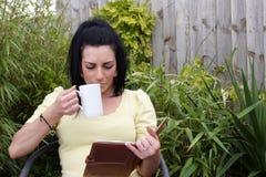 ελκυστική γυναικεία ανάγνωση βιβλίων Στοκ Εικόνες