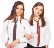 ελκυστική επιχείρηση δύο γυναίκες Στοκ φωτογραφίες με δικαίωμα ελεύθερης χρήσης