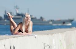 ελκυστική θάλασσα κορ&iot Στοκ φωτογραφίες με δικαίωμα ελεύθερης χρήσης