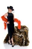 ελκυστική κυρία glamor Στοκ εικόνα με δικαίωμα ελεύθερης χρήσης