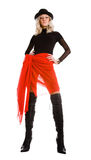 ελκυστική μαύρη κόκκινη γ&u στοκ εικόνες με δικαίωμα ελεύθερης χρήσης