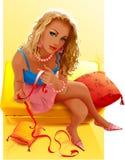 ελκυστική ξανθή γυναίκα Στοκ εικόνα με δικαίωμα ελεύθερης χρήσης