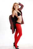 ελκυστική ξανθή γυναίκα Στοκ εικόνες με δικαίωμα ελεύθερης χρήσης