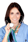 ελκυστικός γιατρός brunette στοκ φωτογραφία