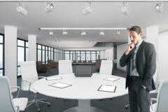 Ελκυστικός επιχειρηματίας στη φωτεινή αίθουσα συνεδριάσεων στοκ φωτογραφία με δικαίωμα ελεύθερης χρήσης