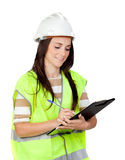ελκυστικός εργαζόμενο& στοκ φωτογραφία