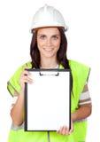 ελκυστικός εργαζόμενο& στοκ εικόνες