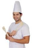 ελκυστικός μάγειρας ευτυχής στοκ εικόνα με δικαίωμα ελεύθερης χρήσης