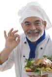 ελκυστικός μάγειρας ευτυχής Στοκ φωτογραφία με δικαίωμα ελεύθερης χρήσης